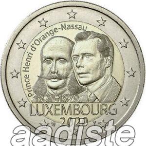 2 EURO 2020 LUSSEMBURGO LUXEMBURG LUXEMBOURG - PRINCIPE HENRY - FDC UNC