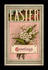 DR JIM STAMPS US EASTER GREETINGS EMBOSSED FLOWERS TOPICAL POSTCARD