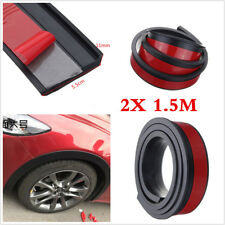 2 X 1.5M 55mm Car Wheel Fender Extension Flares Arch Protector Moulding Retrofit