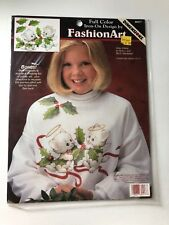 Dimensions full color iron on design fashion art Holly kittens @1996 USA New