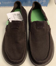 SANUK VAGABOND TRIPPER CHILL BROWN Mens 7 Shoes Loafers