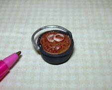 Miniature Carradus Kettle of Baked Beans w/Onions & Bacon: DOLLHOUSE 1/12