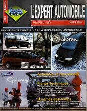 RTA revue technique l'expert automobile n° 383 SEAT ALHAMBRA FORD GALAXY SHARAN