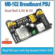 Módulo MB-102 Breadboard fuente de alimentación (PSU) ywrobot. Riel Dual 3.3 V y 5 V