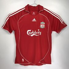 Mens Large Red Adidas Torres 9 Carlsberg Liverpool FC Jersey Polo Shirt LFC