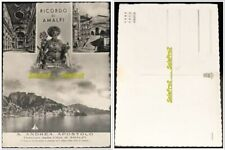 ITALY 1920s CITTA DI RICORDO DI AMALFI RPPC S. ANDREA APOSTOLO BOAT POST CARD