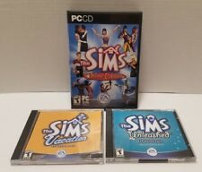 The Sims Deluxe Edition With Unleashed & Vacation Expansion Packs With Codes PC