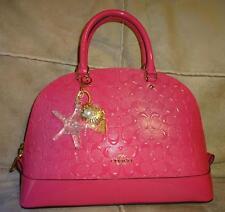 COACH SIERRA ~ Dahlia Pink Debossed Patent Leather Domed Satchel Handbag 38120
