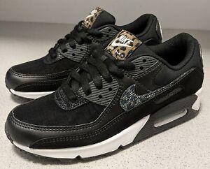 Nike Sneakers Air Max 90 SE Black Safari Black White Women's Size 7