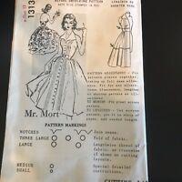 Spadea 1313 Pattern Vintage 1950's Halter Dress Sz 13 Complete Mr Mort