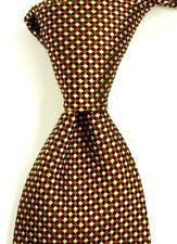 $245 CHARVET VENDOME Gold Red & Black Woven Check Silk Neck Tie NWT 3.5W