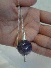 Amethyst Sphere Pendulum dowsing best Quality