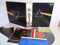 PINK FLOYD dark side of the moon LP JAPAN TOSHIBA EMS-80324 OBI POSTCARD POSTERS