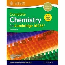 Complete Chemistry for Cambride IGCSE-« Student Book - Paperback NEW RoseMarie G