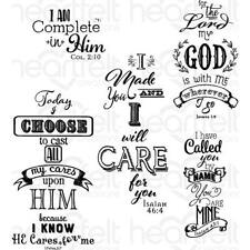Heartfelt Creations Words Of Comfort Cling Stamp Set Religious Christian