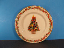 "Dansk China Nordic Holiday Pattern Salad Plate 9"" Fruit & Tree Center"