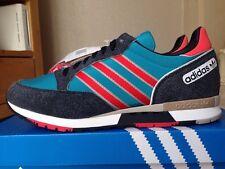 Retro Adidas Phantom Blue Red  Suede 80s Football Casuals Size 8