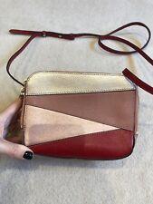 LK Bennett Pink & Red Mariel Crossbody Bag