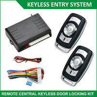 Universal Car Keyless Entry System Door Remote Control Central Lock Locking Kit