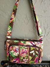 ENGLISH ROSE Hipster Crossbody Shoulder Bag ORGANIZER VERA BRADLEY EUC