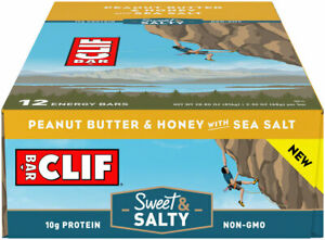 Clif Bar Original Bars: Peanut Butter and Honey with Sea Salt, Box of 12