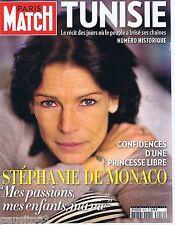 COUVERTURE de MAGAZINE,COVERAGE Paris-Match n° 3218 20/01/11 Stéphanie de Monaco