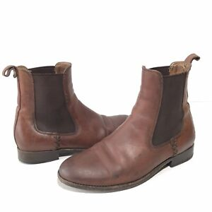 Frye Melissa Chelsea Womens 7.5B Ankle Boots Brown Leather Pull On Shoes 3475453