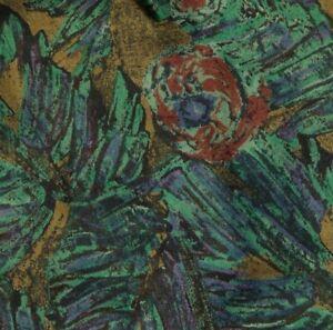 Green Purple Rust Abstract Silk Ascot Cravat