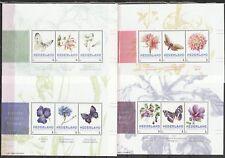 Nederland 3012 4 velletjes Bloemen en vlinders door Janneke Brinkman