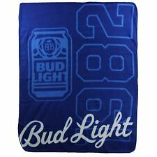 Bud Light Lite Beer Alcohol Budweiser 1982 America Fleece Throw Blanket NEW