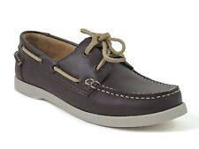 White Mountain Women's Headsail Boat Shoes Brown Leather Size 6.5 M
