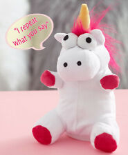 Talk Back Unicorn Toy repeats everything you say.