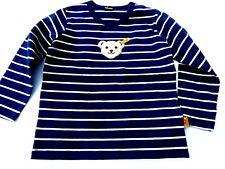 18/19 Steiff Shades Of Blue Camiseta de Manga Larga, Azul a Rayas Gr.68-80