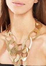 NWT BCBG MAXAZRIA GOLD HAMMERED GEOMETRIC NECKLACE Gold