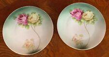 "ZS&Co Bavaria Flower Plates Set Of 2 Salad/Bread/Dessert 6"""
