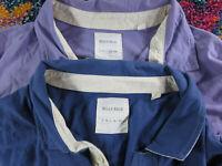 Billy Reid mens solid lavender blue polo shirt lot XL VGUC (2)
