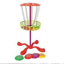 Mini Disc Golf Basket Target With 6 Disc Frisbee Golf Game Toy