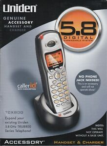 Uniden TCX 800 Accessory Handset & Charger 5.8 Digital, NEW in BOX