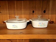 2 CORNING WARE FRIENDSHIP TULIPS CASSEROLE DISHES W/LIDS