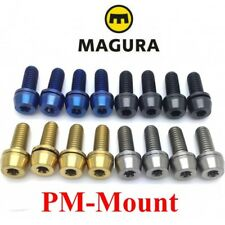 MAGURA: 4 post-mount screws in Titanium, 43% lighter! 4 colors on choice!