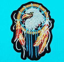 EAGLE HAWK DREAMCATCHER Motorcycle Biker Embroidered Iron Sew On Patch Applique