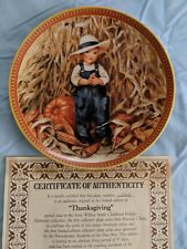Edwin M. Knowles China Thanksgiving Collector's Plate