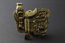 Gold Selle & Fer à Cheval Boucle De Ceinture Chaîne métal American équitation Western