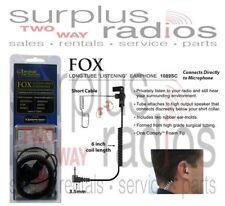 Fox Police Tactical 3.5mm Listen Only Earpiece For Motorola shoulder Mic Xts Apx
