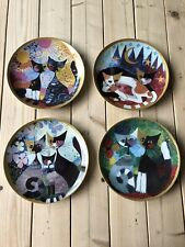 """Rosina Wachtmeister Limited Edition, 8"""" Cat Plates X 4"""