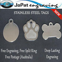 Stainless Steel pet ID Tag Dog Kitten Puppy Cat Name Tags Personalised Engraved