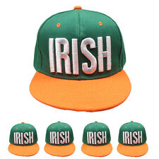 St. Patrick's Day Irish Pride Green Hat Shamrock Fitted Snapback Cap 3D