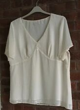 Twiggy Cream Soarkle Tunic Size 20