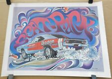 ORIGINAL DICK LANDY DODGE BOYS DRAG SUPER STOCK 1968 PROMO WISE CAR CRAFT POSTER