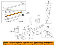 TOYOTA OEM 2004 Tundra Rear-Leaf Spring Right 48212AF070